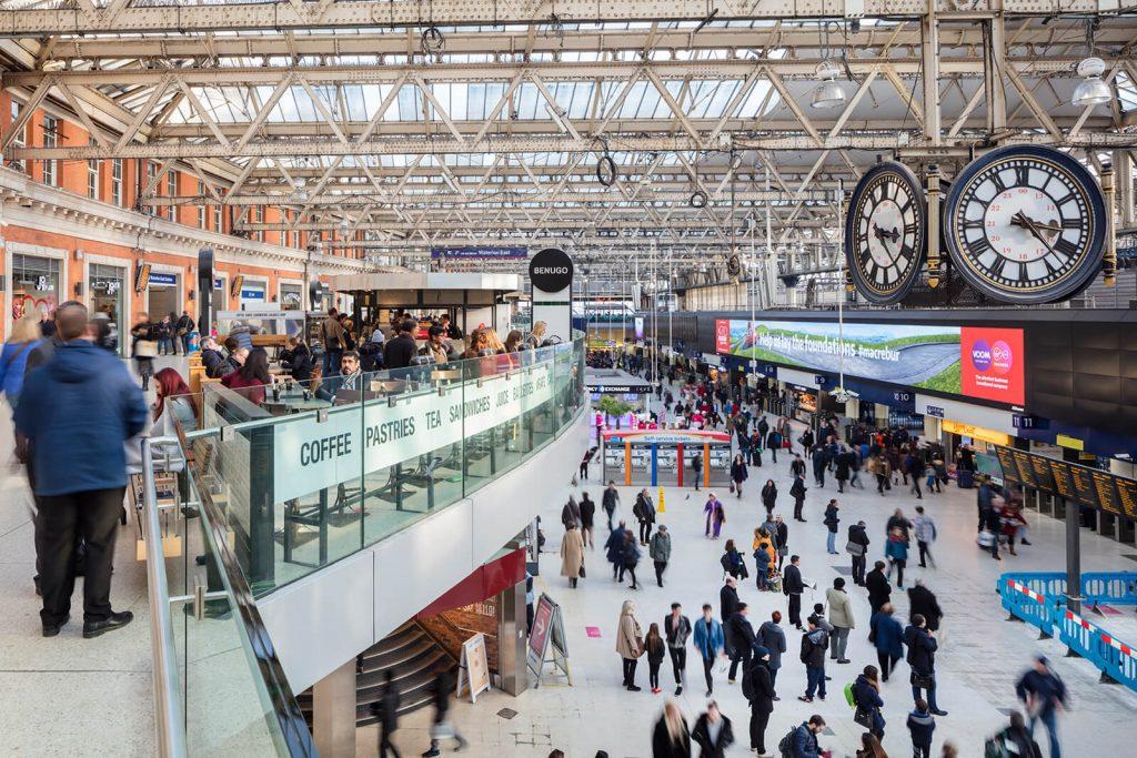 Waterloo station mezzenine and concourse